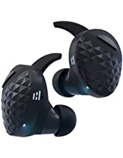 HELM True Wireless Bluetooth 5.0 Headphones, Earbuds, Audiophile HiFi Sound, Qualcomm aptX, Comfort Secure Fit, Sport Sweatproof, 6 Hrs Play Time +30 Hrs w/Charging Case, Dual Mics, Auto-Pairing