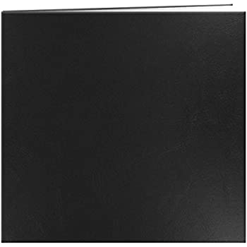 Pioneer Leatherette Postbound Album, 12-Inch-by-12-Inch, Black