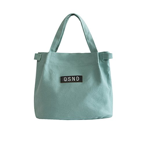 iSuperb Tote Bags y Lona de Casual Carteras Bolsos Shoppers Verde Mujer Bandolera Mano para Clutches de Srx6SOwq
