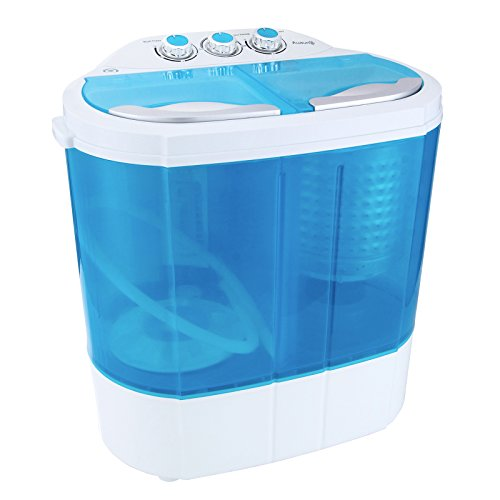 KUPPET Portable Washing Machine, Spin Dryer-Compact Twin Tub Durable Design 9.9lbs Mini Washer to Wash All your Laundry for Apartments, Dorms, RV Camping Swim Suit Spinner Dryer, Blue