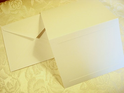 50 Set Wedding or Party Rsvp Response Cards with Envelopes, Blank. Printable Do It Yourself Party & Wedding Response Cards. Ivory, Cards with Raised Panel (Response Cards For Wedding)