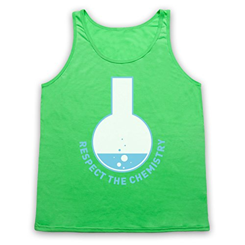 Respect The Chemistry Science Tank-Top Weste, Neon Grun, Large