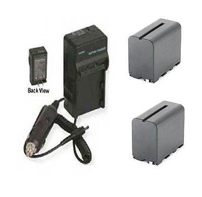 TWO 2 NP-F970/B Batteries + Charger for Sony NEX-FS100, Sony NEX-FS100U FS100E FS100P by photo High Quality