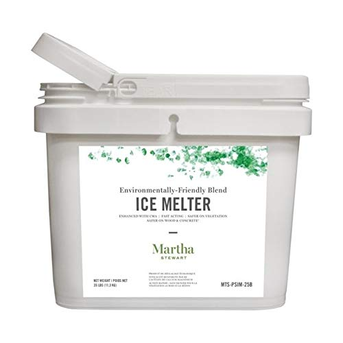 Martha Stewart 25 lb. Environmentally-Friendly CMA-Blended Ice Melter, Clear