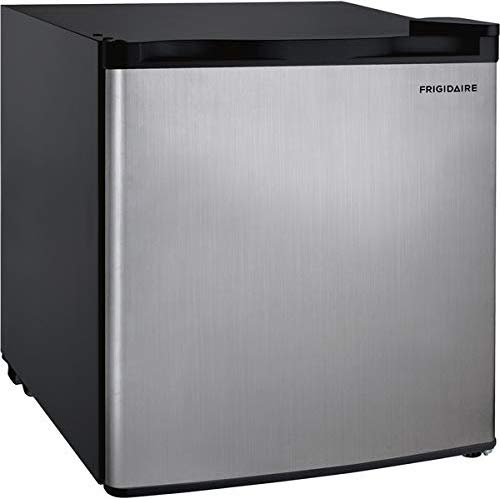 Frigidaire EFR180 1.6 Cu Ft Single Door Mini Fridge, Stainless Steel