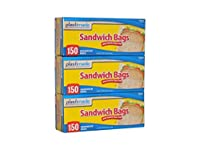 Sandwich Bags 150 Count (Pack of 3total of 450 Bags)