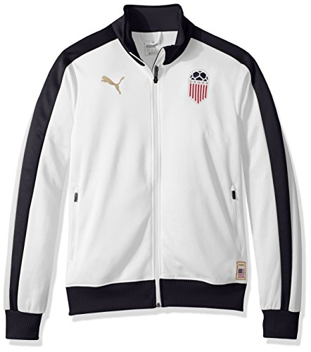 - PUMA Men's Forever Football T7 Track Jacket, White USA, M