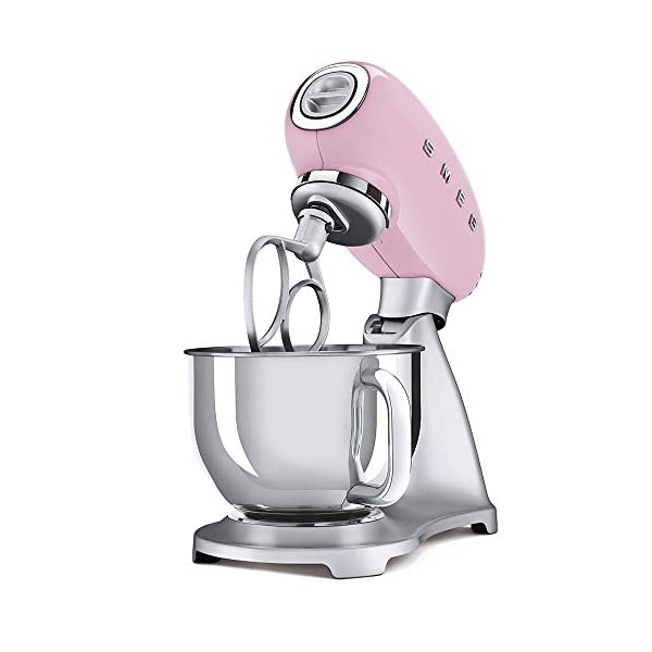 Smeg 1950's Retro Style Aesthetic Stand Mixer (Pink) 3