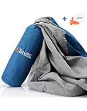 Volcano Mountain Sleeping Bag Liner - Adult Sleep Sack And Camping Sheets - Travel Sheet For Hotels, Backpacking, Camping & Traveling.