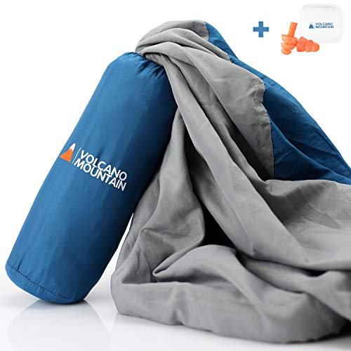 Volcano Mountain Sleeping Bag Liner - Adult Sleep Sack And Camping Sheets - Travel Sheet For Hotels, Backpacking, Camping & Traveling.