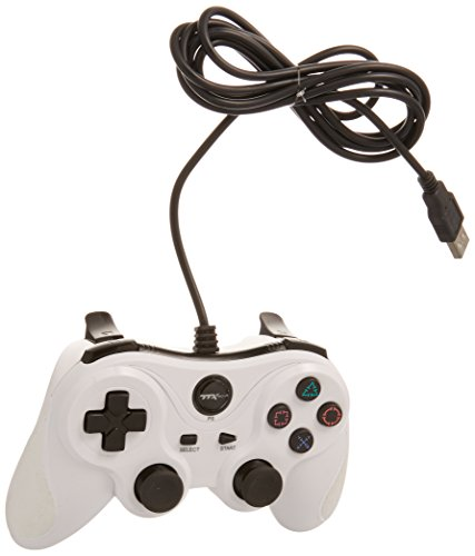 TTX PS3 Wired USB Controller - White - PlayStation 3;