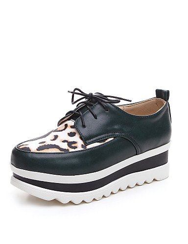 Eu37 Eu39 Green Creepers Uk4 Casual Plataforma us8 Oxfords Punta 5 Njx Uk6 5 Zapatos Cn39 White Semicuero Mujer Negro De Cn37 7 us6 5 Redonda Blanco xTw16q6B