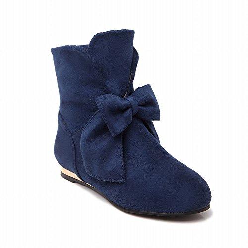 Ankle Show Blue Charm Womens Boots Infront Nubuck high Bows Shine qBYqn7