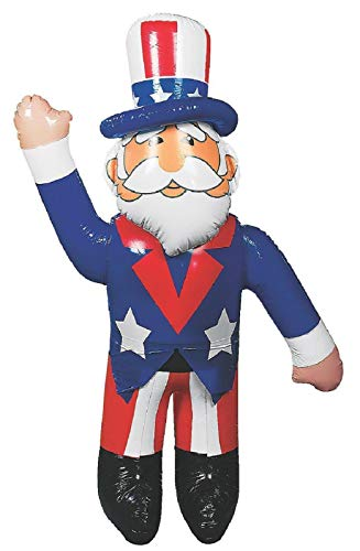 5-Ft Patriotic Waving Uncle Sam Blow-Up Vinyl Inflatable Indoor Outdoor 4th of July Decoration 64