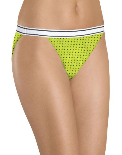 Hanes Women's 6-Pack Cotton Sporty String Bikini Panty, Assorted, 7
