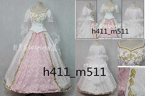 576555aece2375 眠れる森の美女 ディズニー 塔の上のラプンツェル ドレス コスプレ衣装+パニエ 刺繍