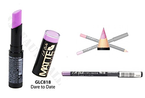 L.A. Girl Matte Velvet Lipstick GLC818 With GP525 Lip liner