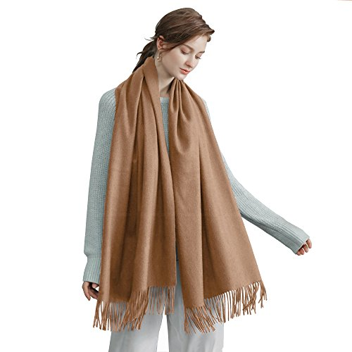 Sunfung Winter Scarf Scarves Fashion Large Soft Silky Pashmina Shawl Wrap Scarf 78'' X 27.5'' For Women (Camel) by Sunfung