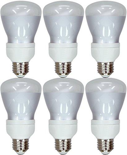 Set of 6 GE Lighting 24691 Energy Smart CFL 11-Watt (45-watt replacement) 400-Lumen R20 Floodlight Bulb with Medium Base