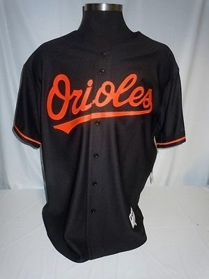 634dfe2b3f6 Baltimore Orioles Authentic Majestic Black Jersey with 50th ...