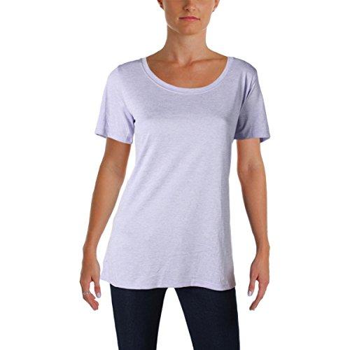 Womens Nike Cotton T-shirt Top (NIKE Womens Dri-Fit Short Sleeves T-Shirt Purple M)