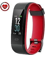 YAMAY Orologio Fitness Tracker Cardiofrequenzimetro da Polso Smartwatch Android iOS Uomo Donna Bambini Impermeabile IP68 Contapassi Calorie Sport Nuoto Corsa per iPhone Huawei Samsung Xiaomi Phone