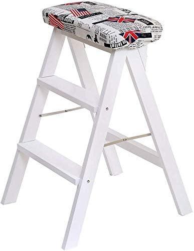 Taburete Ladfer, escalera fácil de almacenar, taburete de cocina para el hogar Escalera plegable Taburete de