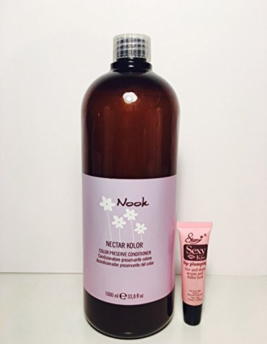 Maxima Nook Nectar Kolor Color Preserve Conditioner 33.8 Oz Free Starry Sexy Kiss Lip Plumping Gloss tube 10ml)
