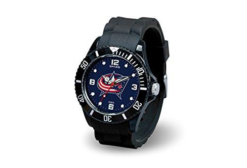 Rico Industries NHL Columbus Blue Jackets Spirit Watch, - Jackets Clock Blue Columbus