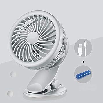 HNZZLC Ventilador Pequeño USB: Mini Recargable,Dormitorio para ...