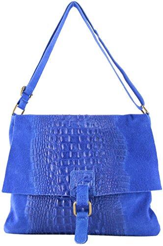 Bolso Mujer Santo histoireDaccessoires con de Cuero Azul Bandolera SA098623GR de 7gxOn