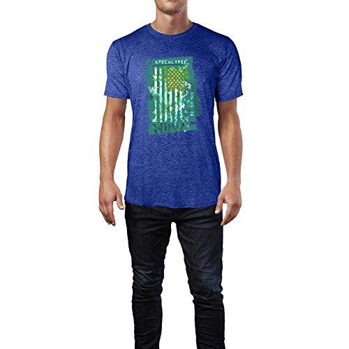 SINUS ART® USA Flagge Apocalypse Now Herren T-Shirts in Vintage Blau Cooles Fun Shirt mit tollen Aufdruck