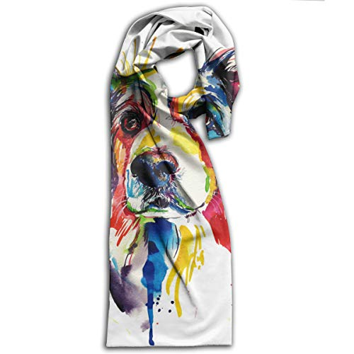 Galaxy Voyage Crazy Border Collie Dog Womens Mens Large Soft Shawls Wrap Casual Scarfs For Women/Men -