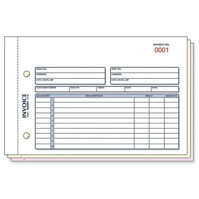 Amazon Com Red7l706 Rediform Invoice Form Blank Purchase Order