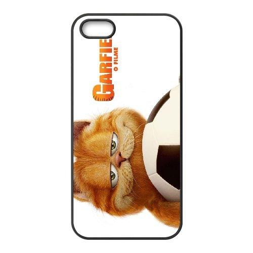 Garfield 002 coque iPhone 4 4S cellulaire cas coque de téléphone cas téléphone cellulaire noir couvercle EEEXLKNBC25205