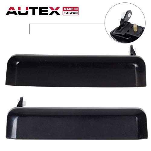 Door Handle Exterior Pickup - AUTEX Exterior Door Handles Compatible with Nissan Pickup 95-97 Replacement for Nissan D21 Pathfinder 86-95 Replacement for Nissan Sentra Tsuru 82-85 Door Handles Front Left Right 77219 77220
