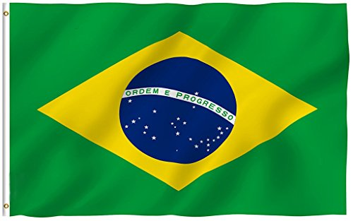 Zilbery Brazil Flag 3x5 Ft, International World Country Flag