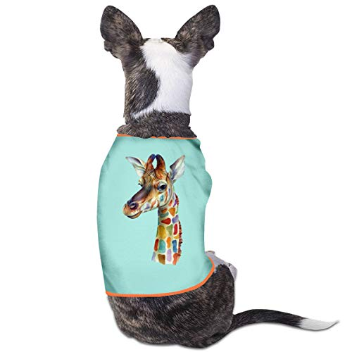 Agilitynoun Dog T-Shirt Clothes Giraffe Painting Doggy Puppy Tank Top Pet Cat Coats Outfit Jumpsuit Hoodie]()