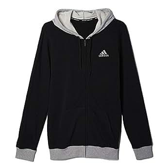 Adidas Men's Basketball Everyday Hoodie Black/Grey Heather s89077 (Size S)