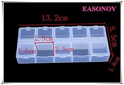 Buy Clear : 10 grid transparent plastic storage square grid