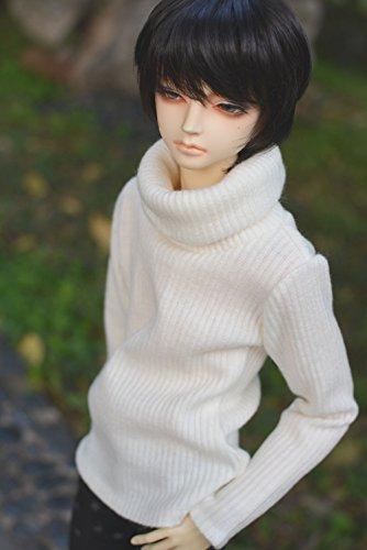 Kuafu 1/3 BJD Doll Clothes Boy's Sweater Fashion Top For Doll White (only sweater) (Bjd Doll Clothes)