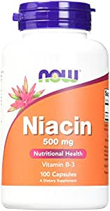 Now Foods Niacin Capsules, 500 mg, 100 Count