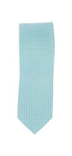 Olymp Seiden Krawatte 6 cm breit Businesskrawatte fleckabweisend durch Nano-Technologie Muster Eisblau
