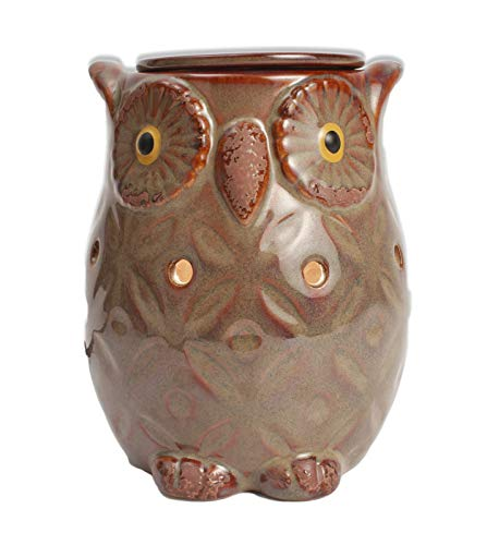 (Langley Empire Candle Romanesque Warmers, Brown Owl )