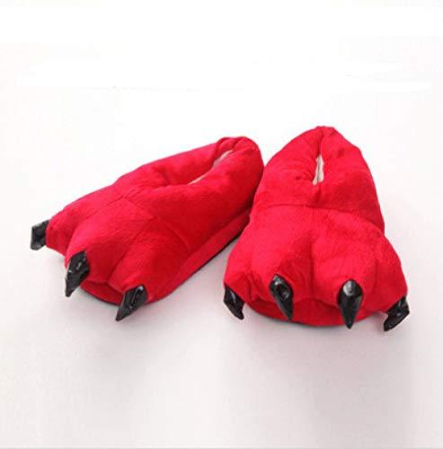 Pigiama Coppie Red Hong Zampe black Pezzo Pantofole 35 35 Di Un Scarpe Spesse 40 40 Jia EqpBSgAE