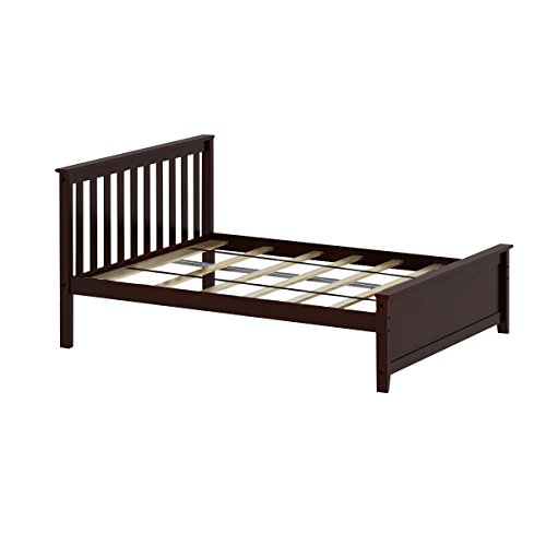 Brown Kids Bedroom Furniture - Max & Lily Solid Wood Full-Size Bed, Espresso