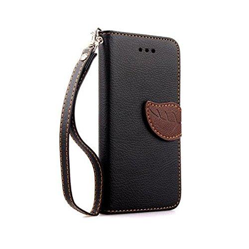 iPhone 6 Hülle,Apple iPhone 6 Hülle (4.7 Zoll) Lifetrut®[Schwarze] Schutzhülle Flip PU Ledertasche Ständer Schutzhülle Tasche Hülle Case Cover mit Kreditkartensteckplätze für Apple iPhone 6 (4.7 Zoll)