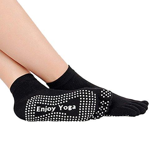 Hrph Neu Design-Socken Anti-Rutsch-Finger 5 Zehen Socken aus Baumwolle für Übungs-Sport Pilates Massage Yoga