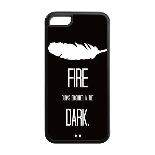 the Case Shop- The Hunger Games Movie Quotes TPU Rubber Hard Back Case Silicone Cover Skin for iPhone 5C , i5cxq-581
