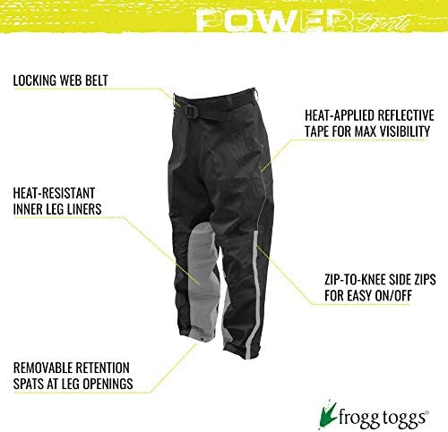 Frogg Toggs ToadSkinz Reflective Rain Pants Size Men/'s Medium /& Large Motorcycle